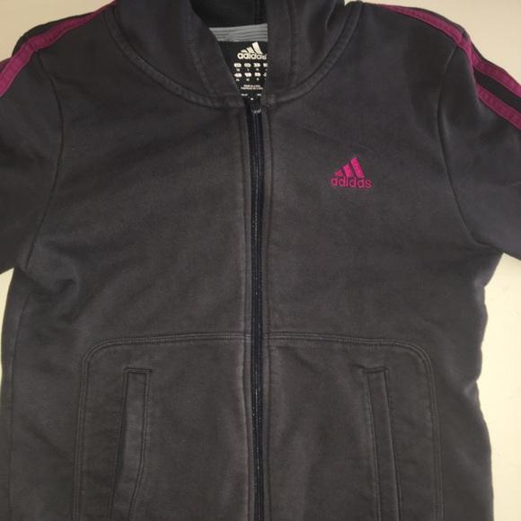 adidas Jackets & Blazers - Pink Striped Adidas Jacket